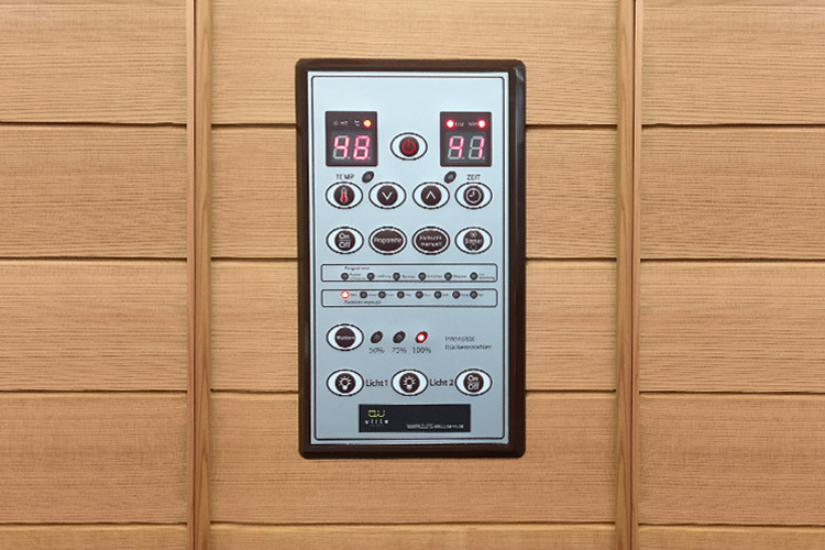 infraroodsauna 120 deluxe display